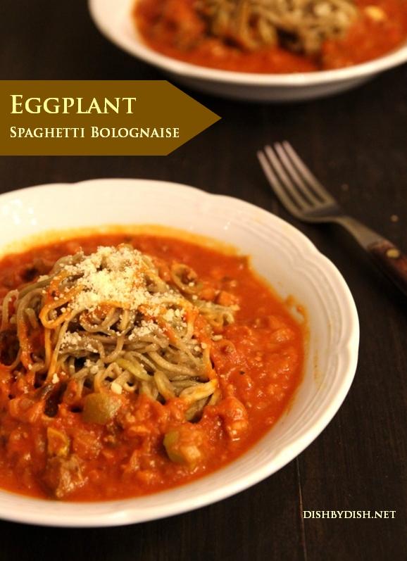 Eggplant Spaghetti Bolognaise