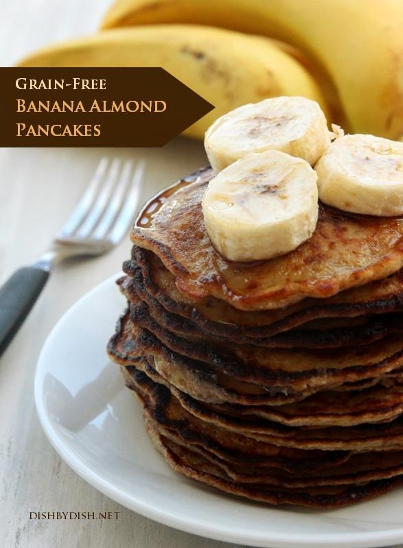 Grain-Free Banana Almond Pancakes