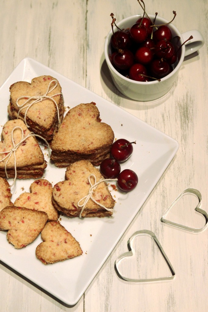 Grain-free Cherry Shortbread Cookies1
