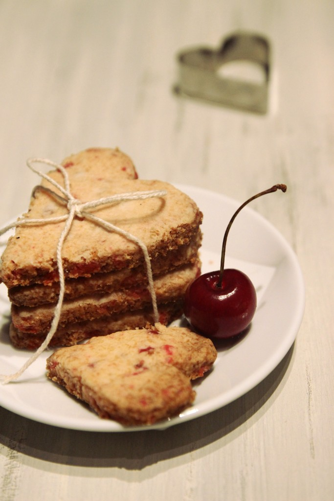 Grain-free Cherry Shortbread Cookies13