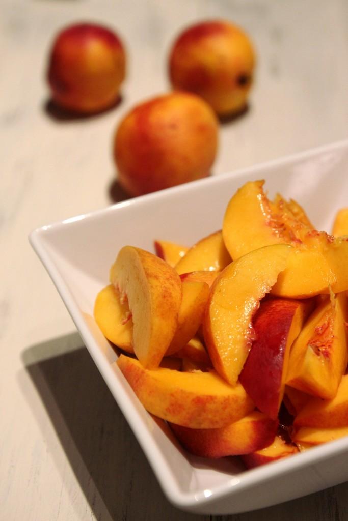 Honey Peach & Ricotta Tart with Almond Crust
