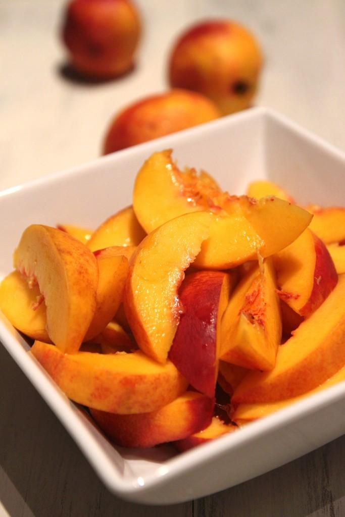Honey Peach & Ricotta Tart with Almond Crust1