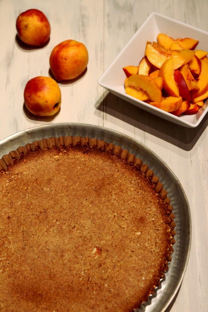 Honey Peach Ricotta Tart with Almond Crust - Dish by Dish