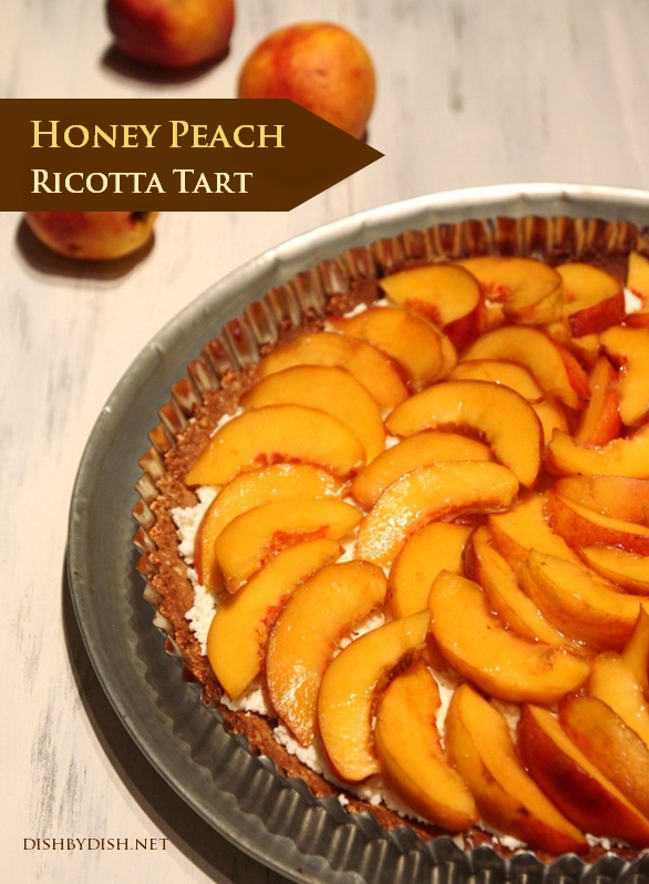 Honey Peach Ricotta Tart with Almond Crust