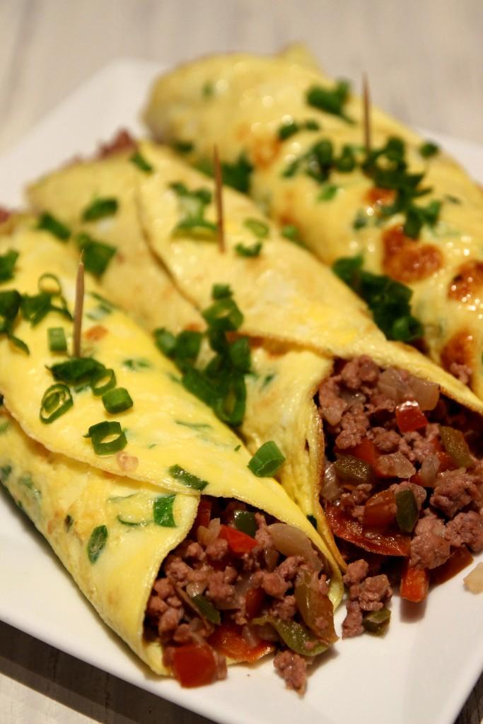Minced Beef Egg Burritos