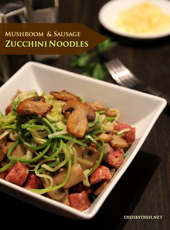 Mushroom & Sausage Zucchini Noodles2