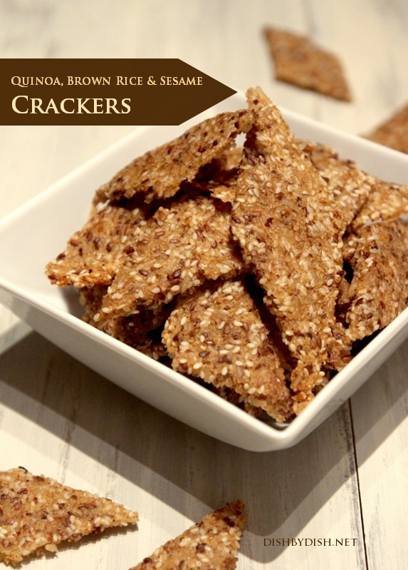 Quinoa, Brown Rice & Sesame Crackers