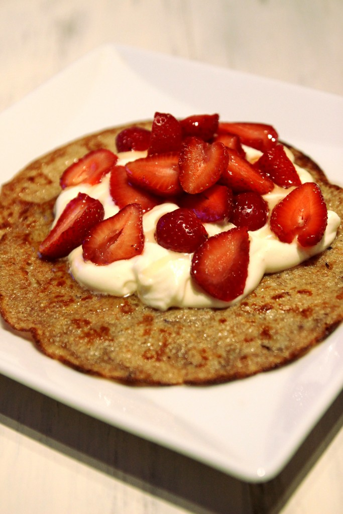 Strawberries & Cream Quinoa Dessert Crepes1