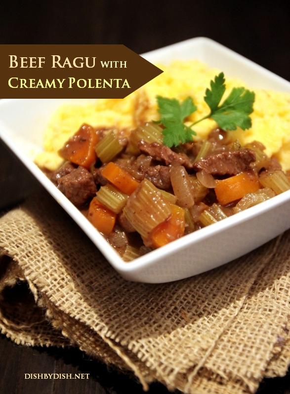 Beef Ragu with Creamy Polenta