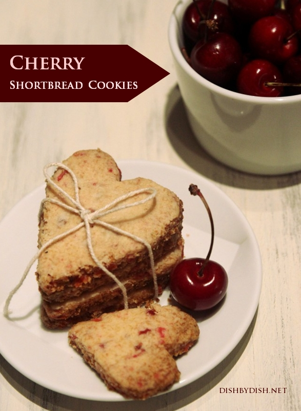 Grain-free Cherry Shortbread Cookies