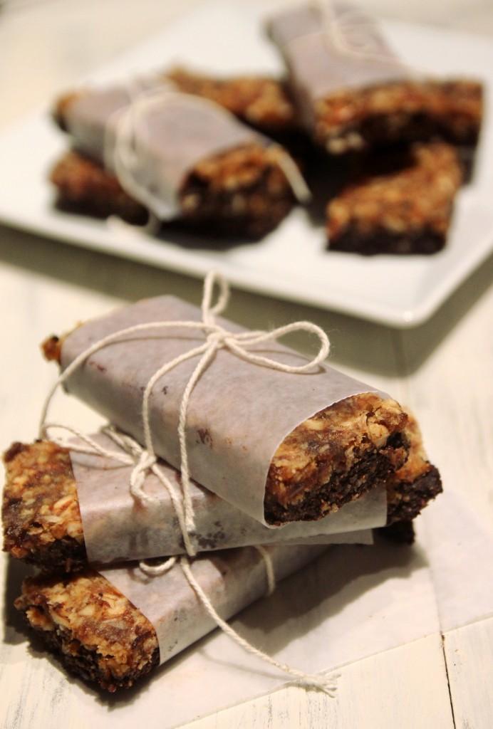 Raw Mixed Nut Chococolate Energy Bars