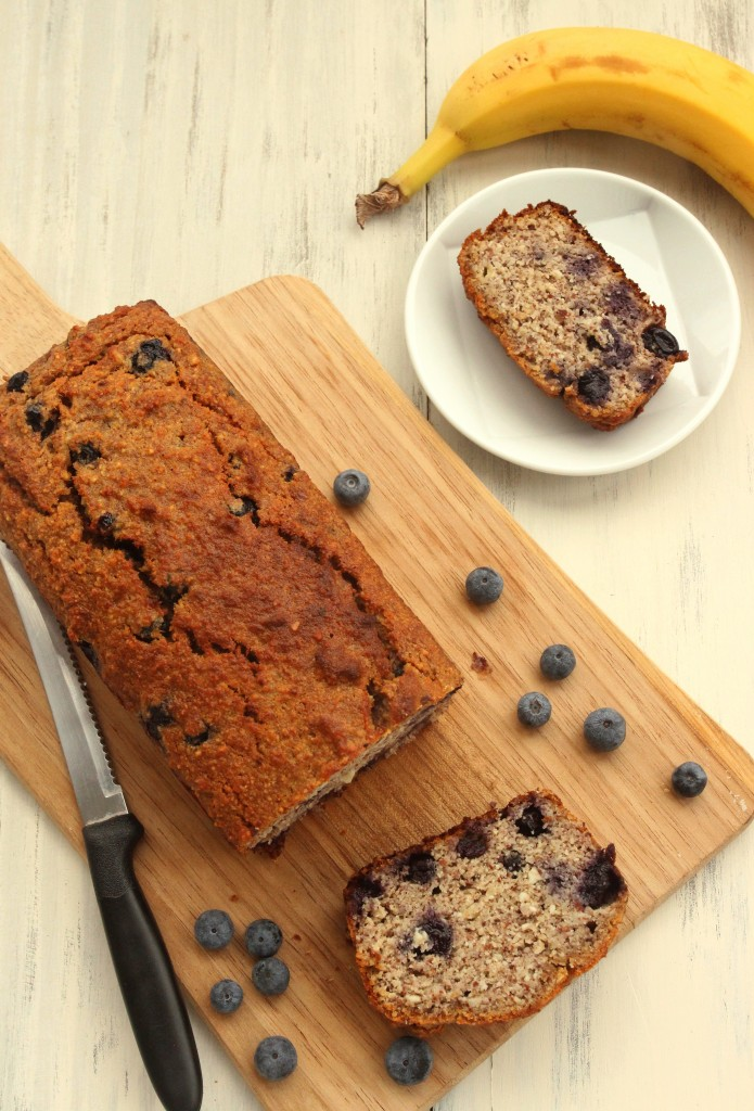 Grain-free Blueberry Almond Banana Bread