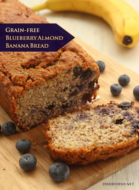 Grain-free Blueberry Almond Banana Bread