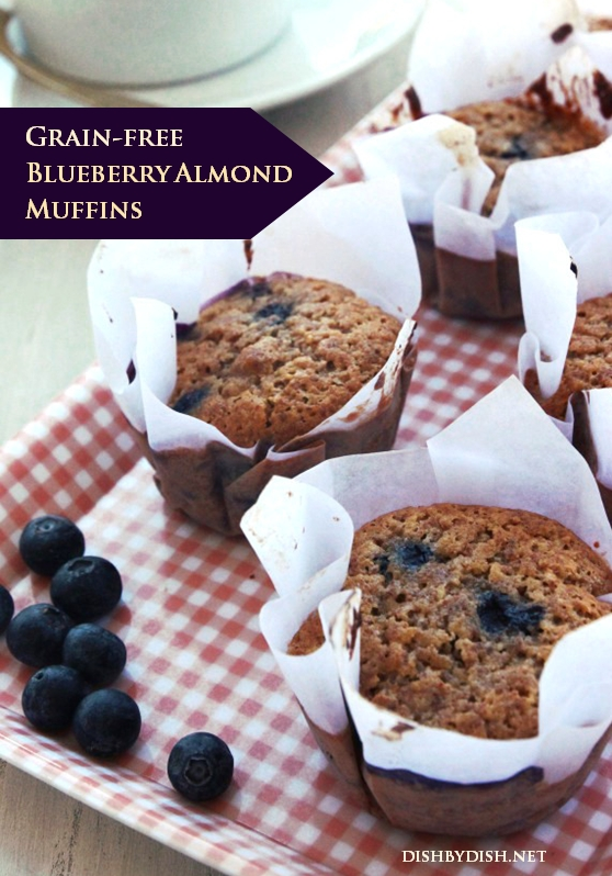 Grain-free Blueberry Almond Muffins