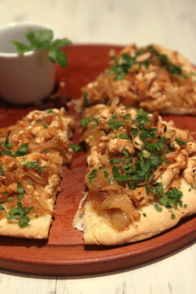 Grain-free Caramelized Onion & Chicken Pizza