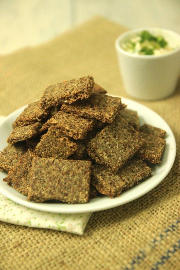 Grain-free Flax Garlic Crackers