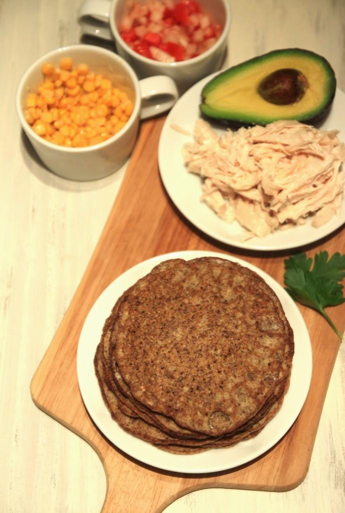 Grain-free Chicken Avocado Flaxseed Wraps