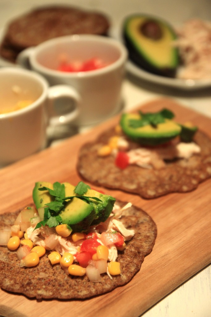 Grain-free Chicken Avocado Flaxseed Wraps