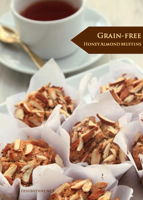 Grain-free Honey Almond Muffins