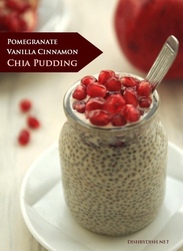 Pomegranate Vanilla Cinnamon Chia Pudding