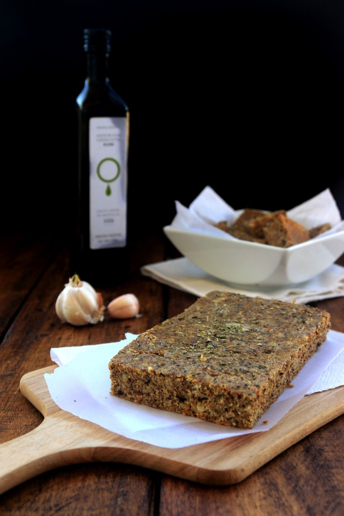 Grain-free Oregano Garlic Focaccia