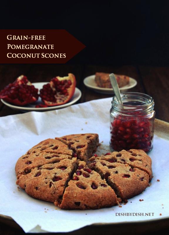 Grain-free Pomegranate Coconut Scones