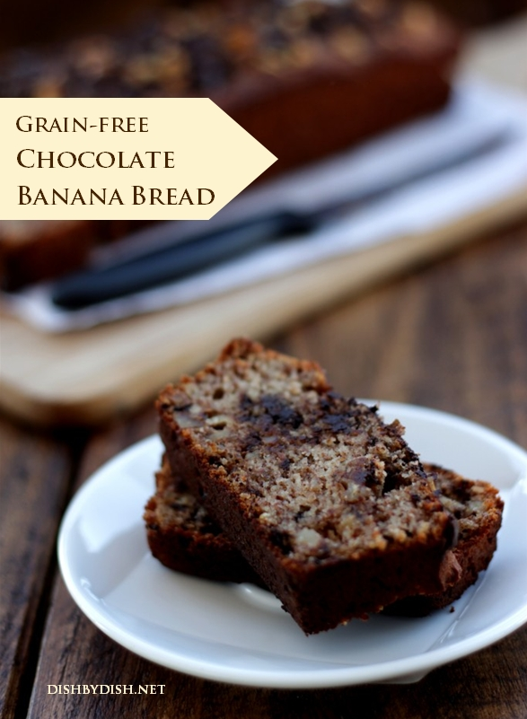 Grain-free Chocolate Banana Bread
