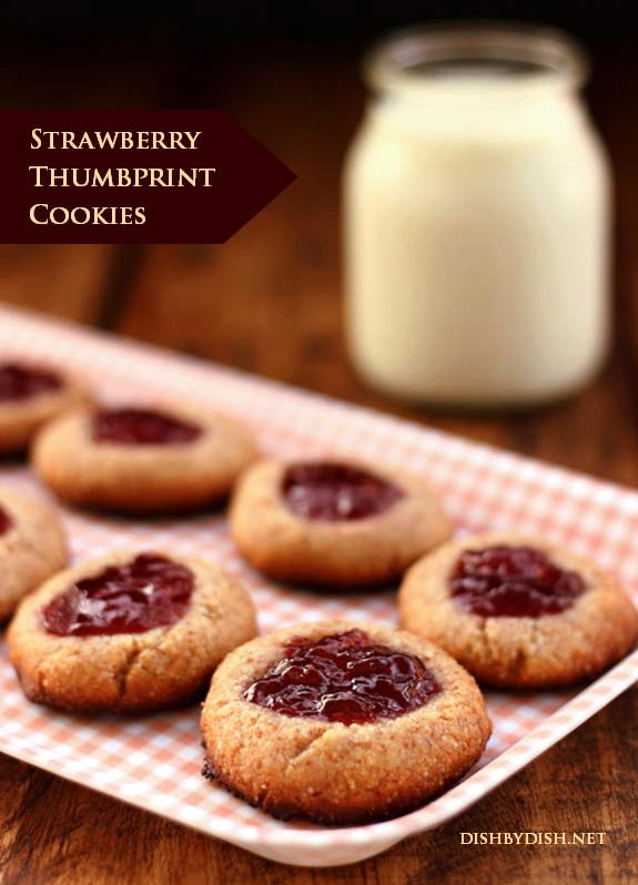 Grain-free Strawberry Thumbprint Cookies
