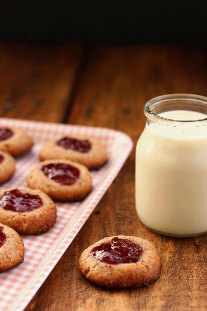 Grain-free Strawberry Thumbprint Cookies