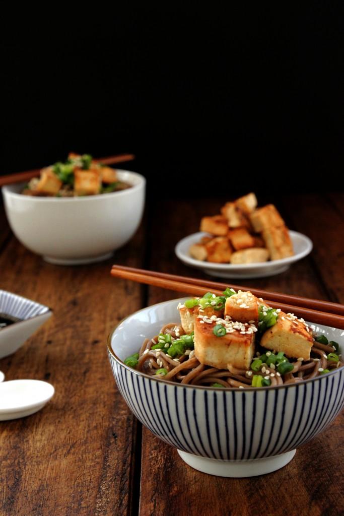 Pan-fried Tofu & Soba Salad
