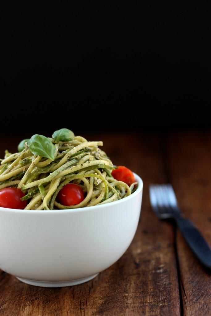 Walnut Pesto Zucchini Noodles