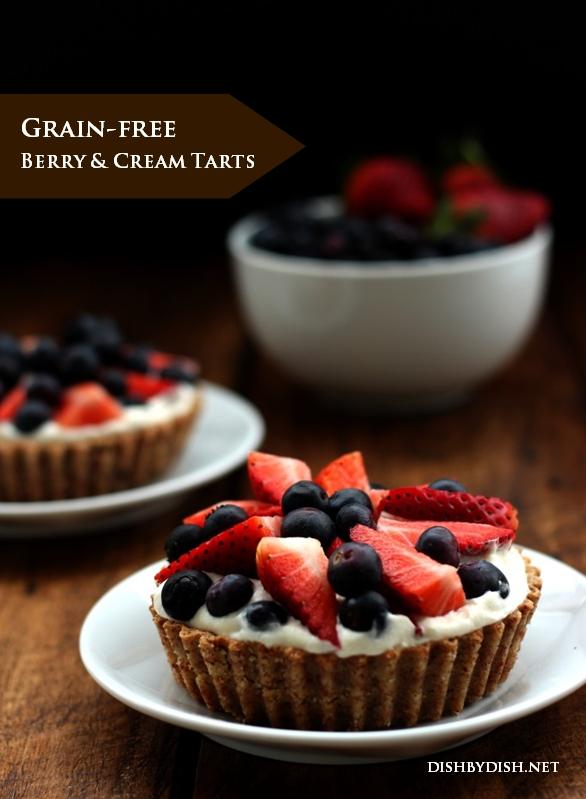 Grain-free Berry & Cream Tarts