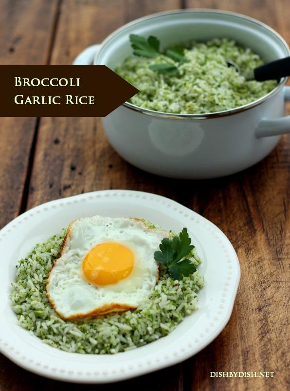 Easy Broccoli Garlic Rice