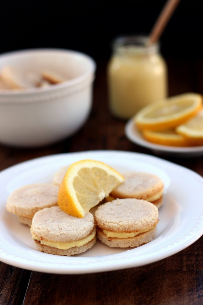Grain-free Lemon Sandwich Cookies - Dish by Dish