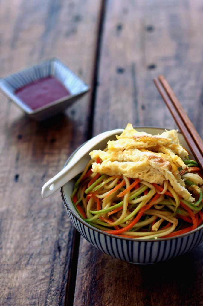Stir-fried Egg Vegetable Noodles