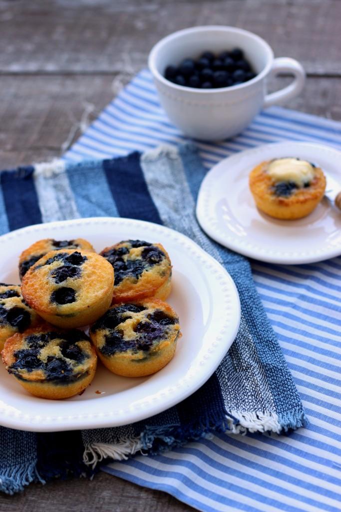 Gluten-free Blueberry Cornbread Muffins - Dish by Dish