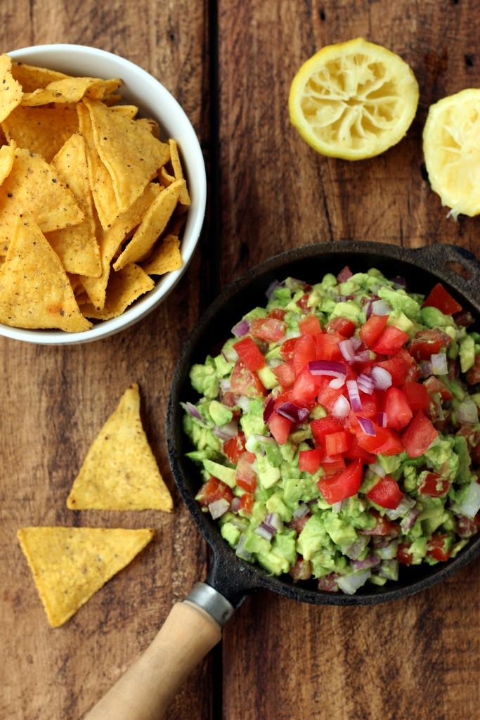 Rainbow Guacamole & Chips