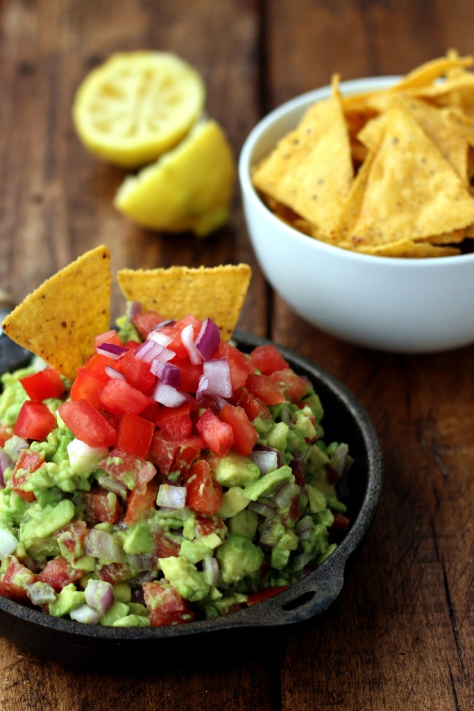 Rainbow Guacamole & Chips