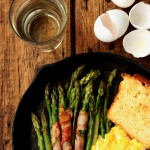 Sauteed Asparagus, Bacon & Scrambled Eggs