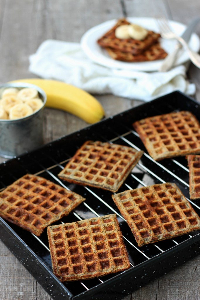 5-Ingredient Banana Flaxseed Waffles