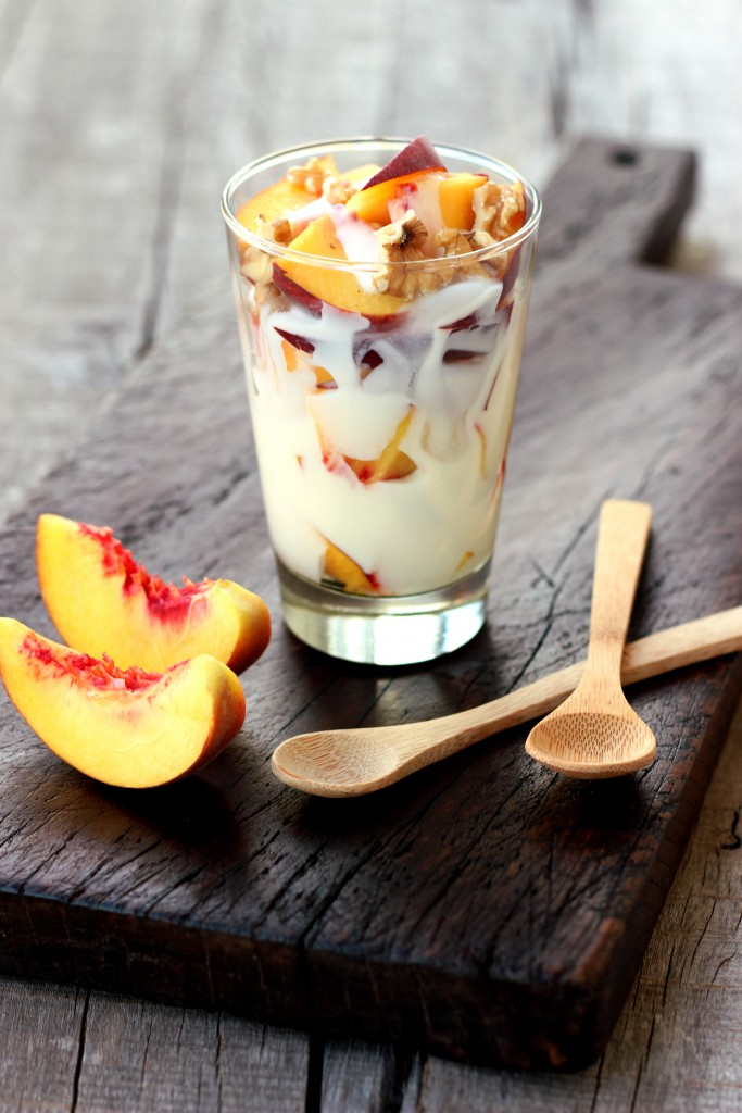 Peach Walnut Yogurt Parfait