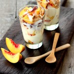 Peach Walnut Yogurt Parfait