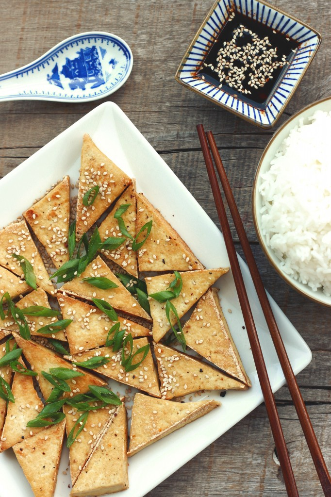 Pan-fried Tofu & Siracha Soy Sauce