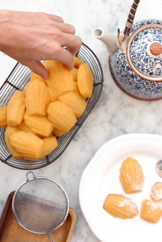 Gluten-free Cornbread Madeleines