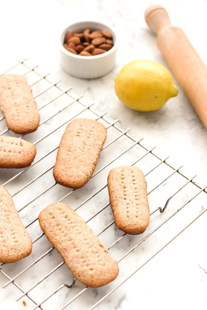 Grain-free Honey Lemon Shortbread Cookies