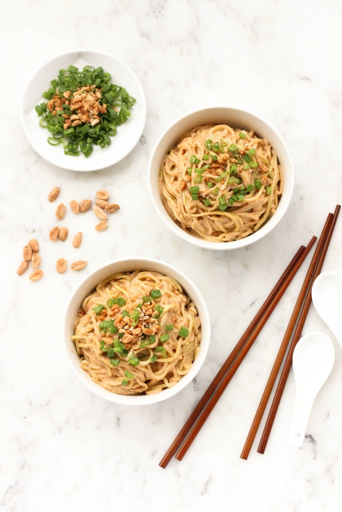 Peanut Sesame Zucchini Noodles - Dish by Dish