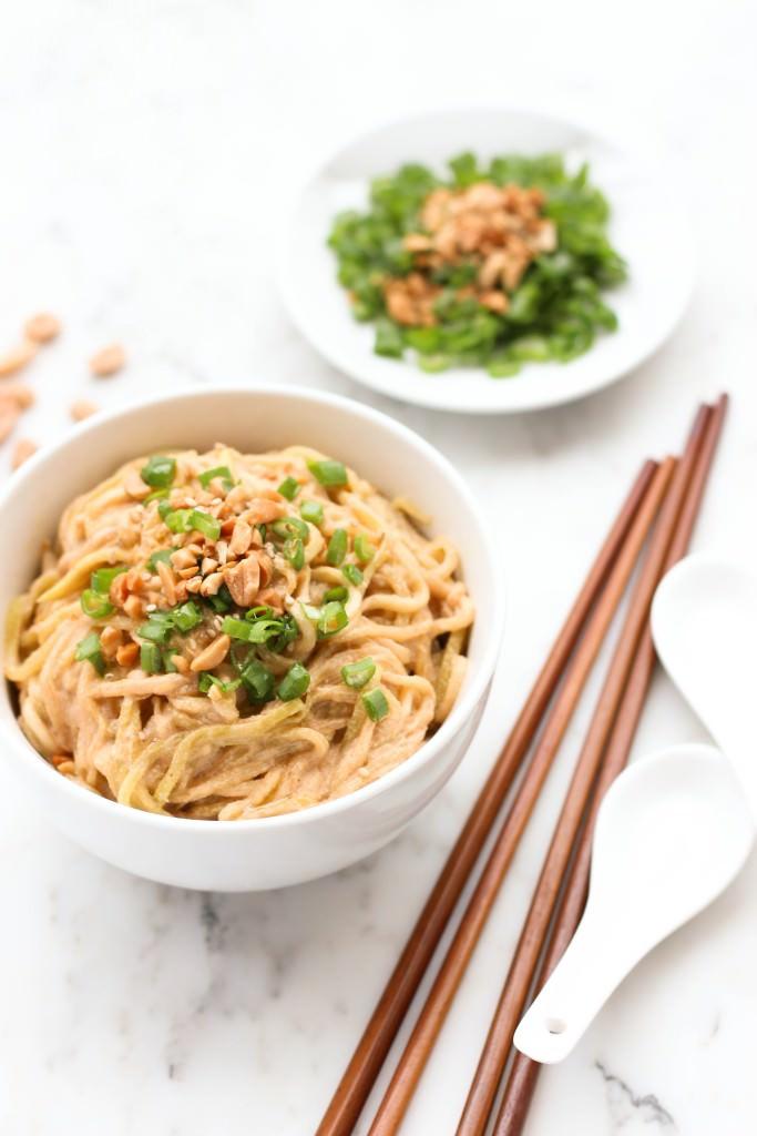 Peanut Sesame Zucchini Noodles