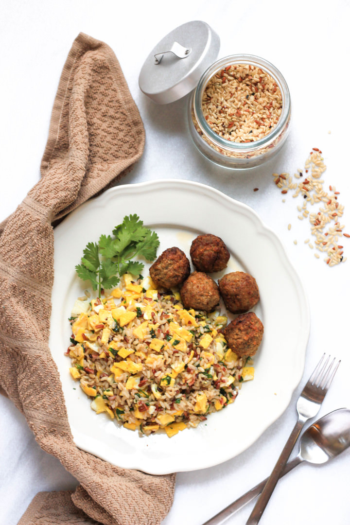 Cilantro Egg Fried Brown Rice
