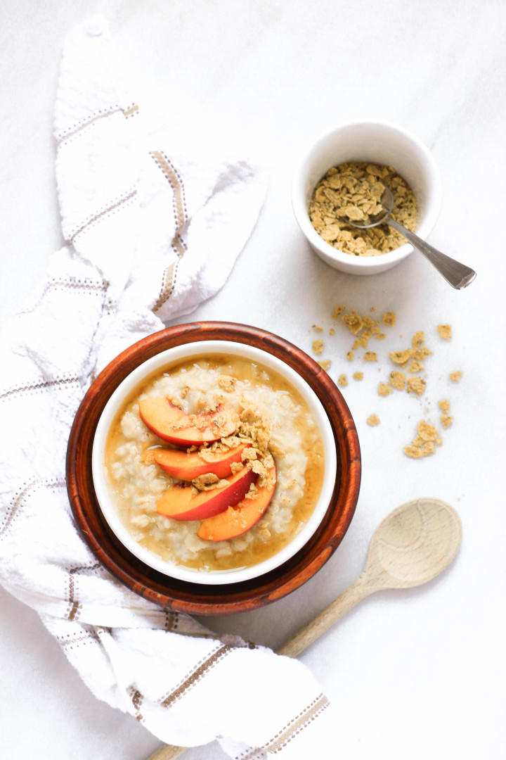 Gluten-free Maple Peach Oatmeal