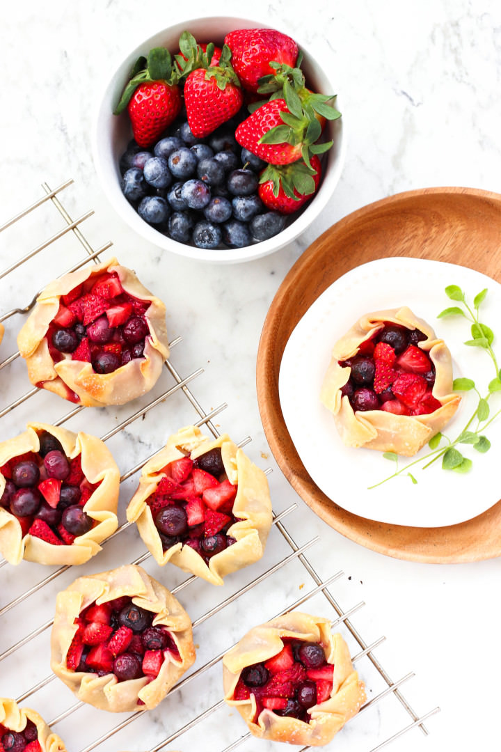 Gluten-free Mini Mixed Berry Galettes - Dish by Dish